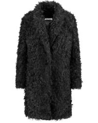 Elizabeth and James | Black Iris Faux Shearling Coat | Lyst