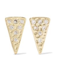 Kevia | Metallic Gold-tone Crystal Earrings | Lyst
