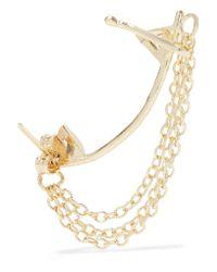 Kevia - Metallic Gold-tone Crystal Earrings - Lyst