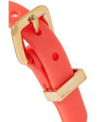 Marc By Marc Jacobs | Multicolor Gold-tone Rubber Bracelet | Lyst