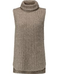 Theory | Blue Beylor Knitted Turtleneck Top | Lyst