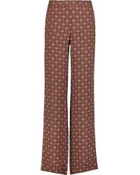 Theory | Multicolor Mitrana Printed Silk Wide-leg Pants | Lyst