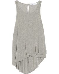 Elizabeth and James - Gray Kamera Draped Jersey Top - Lyst