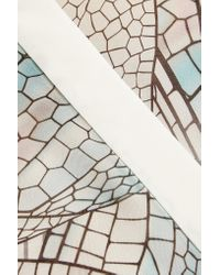 Vionnet - Blue Printed Silk-georgette Blouse - Lyst