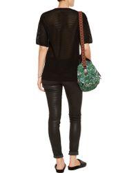 M Missoni - Black V-neck Silk-jersey Top - Lyst