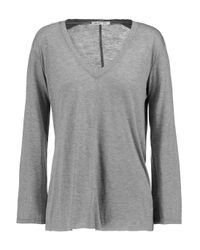 Helmut Lang | Gray Modal-blend Jersey Top | Lyst