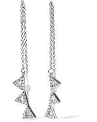 Rebecca Minkoff | Metallic Silver-tone Crystal Ear Cuff | Lyst