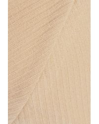 Baserange - Natural Mississippi Ribbed Organic Stretch-cotton Soft-cup Bra - Lyst
