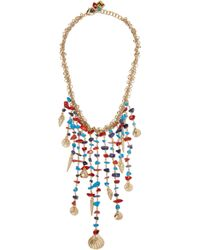 Rosantica - Blue Appeso Brass And Bead Necklace - Lyst