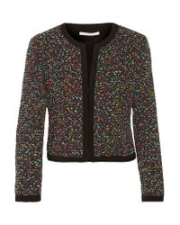 Diane von Furstenberg | Black Emery Bouclé-tweed Jacket | Lyst