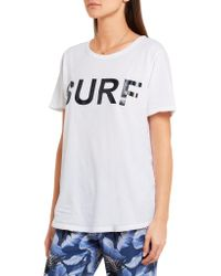 Mikoh Swimwear - White Printed Cotton-jersey T-shirt - Lyst