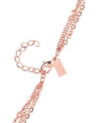 Arme De L'Amour - Multicolor Rose Gold-plated Multi-strand Necklace - Lyst