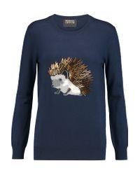 Markus Lupfer - Blue Natalie Embellished Merino Wool Sweater - Lyst