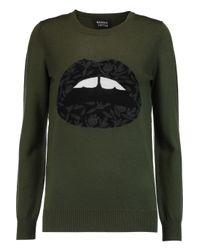 Markus Lupfer - Green Emma Intarsia Merino Wool Sweater - Lyst