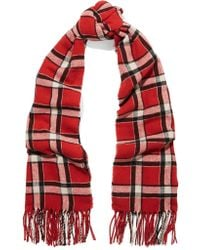 Marc By Marc Jacobs | Red Toto Checked Woven Scarf | Lyst