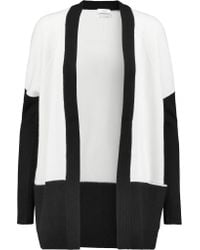 VINCE | White Two-tone Cashmere Cardigan | Lyst