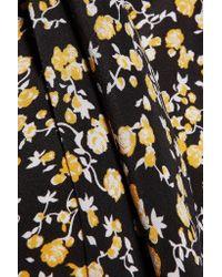 Equipment - Black Phaedra Floral-print Washed-silk Mini Dress - Lyst