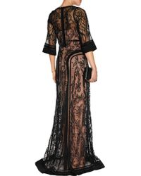Temperley London - Black Bertie Embroidered Tulle Gown - Lyst