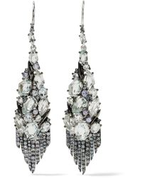 Alexis Bittar - Metallic Sterling Silver Multi-stone Earrings - Lyst