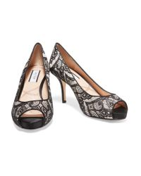 Lucy Choi | Black Chiswick Lace And Leather Pumps | Lyst