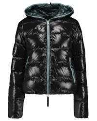 Duvetica | Black Thia Quilted Shell Down Hooded Coat | Lyst