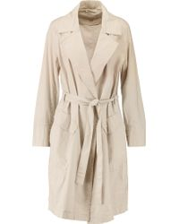 DKNY | Natural Cotton-blend Poplin Trench Coat | Lyst