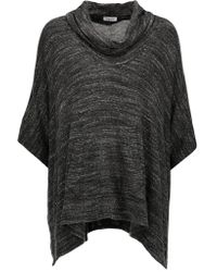 Splendid | Gray Mélange Stretch-jersey Top | Lyst