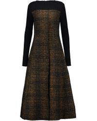 Marni | Brown Wool-blend Bouclé-tweed Midi Dress | Lyst