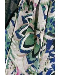 Diane von Furstenberg - Multicolor Wynn Printed Silk-chiffon Top - Lyst
