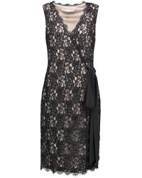 Diane von Furstenberg | Black Julianna Two Corded Lace Wrap Dress | Lyst