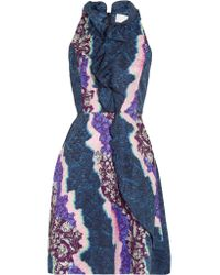 Peter Pilotto | Multicolor Ellipse Printed Silk Dress | Lyst