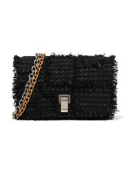 Proenza Schouler | Black Courier Small Leather-trimmed Tweed Shoulder Bag | Lyst