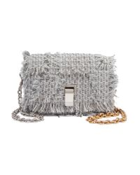 Proenza Schouler - Gray Courier Extra Small Leather-trimmed Tweed Shoulder Bag - Lyst
