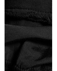 Haider Ackermann - Black Cotton-jersey Hooded Sweatshirt - Lyst