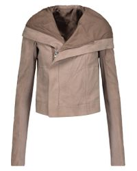 Rick Owens | Multicolor Leather Hooded Jacket | Lyst