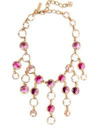 Oscar de la Renta | Multicolor Gold-tone Crystal Necklace | Lyst