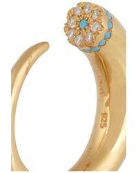 Ileana Makri - Metallic Thorn Eye Gold-plated Cubic Zirconia Ring - Lyst