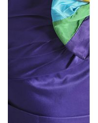Peter Pilotto - Purple Cropped Taffeta Top - Lyst