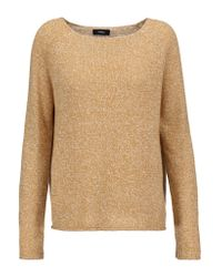 Theory | Natural Lalora Linen And Cashmere-blend Sweater | Lyst