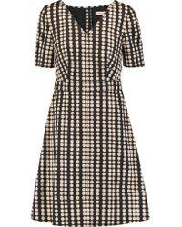 Tory Burch | Black Jada Printed Stretch-cotton Dress | Lyst
