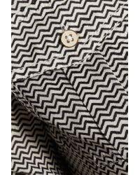 Tory Burch - Black Brigitte Zigzag Cotton Shirt Dress - Lyst