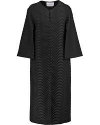 Vionnet - Black Jacquard Coat - Lyst