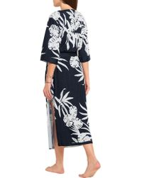 Orlebar Brown Blue Harlow Printed Cotton-terry Coverup