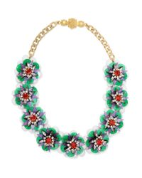 Shourouk | Metallic Narcis Gold-tone, Bead And Sequin Necklace | Lyst