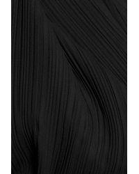 Jil Sander | Black Plissé Satin Top | Lyst
