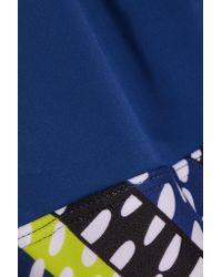 Mara Hoffman - Blue Printed Stretch-jersey Sports Bra - Lyst