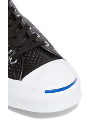 Converse - Black Jack Purcell Signature Perforated Leather Sneakers - Lyst