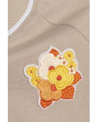 Carven   Multicolor Floral-appliquéd Jersey Sweatshirt   Lyst