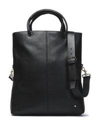 Halston Heritage - Black Pebbled-leather Tote - Lyst