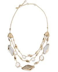 Alexis Bittar | Gray Gold-tone Stone Necklace | Lyst